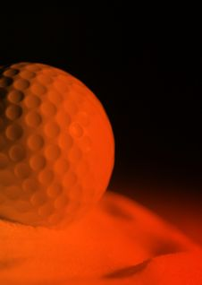 Free Golf Ball Sunset Royalty Free Stock Photography - 3734777