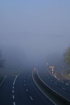 Free German Expressway In The Morning Royalty Free Stock Photo - 3735395