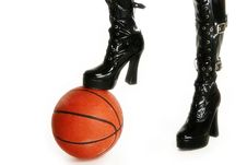 Free Sexy Legs With Basketball Stock Image - 3735561