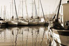 Free Boat Reflections Royalty Free Stock Photo - 3735785