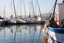 Free Boat Reflections Stock Images - 3735794