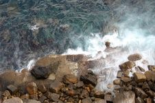 Free Waves Against Rocks Royalty Free Stock Photography - 3735897