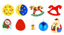Christmas Toys Set Stock Photography