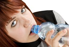 Free Girl Drinking Water Royalty Free Stock Image - 3736276