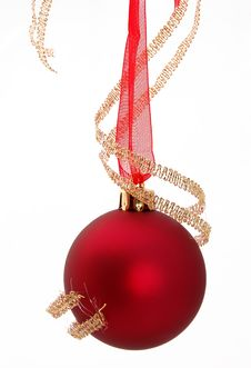 Free Red Christmas Ball Royalty Free Stock Photo - 3736625