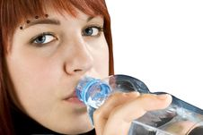 Free Redhead Drinking Water Royalty Free Stock Photo - 3736895