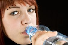 Free Redhead Drinking Water Stock Image - 3736901