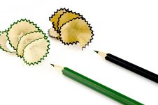 Free Pencil Shavings Royalty Free Stock Photography - 3736917