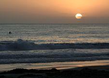 Free Surfer Watching A Sunset Stock Photo - 3737070