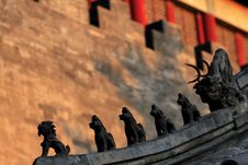 The Roof Of The Forbidden City ... Royalty Free Stock Photography