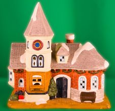 Colorful Christmas Village Home Stock Image
