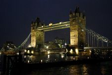 Free Tower Bridge By Night Stock Images - 3738454