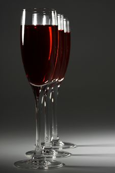 Glasses With Red Wine Royalty Free Stock Photos