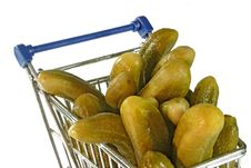 Free Cucumbers In A Trolley Royalty Free Stock Image - 3738856