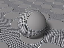 Free 3d Sphere With Shapes Stock Photography - 3738862