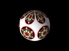 Free 3d Sphere With Christmas Scene Stock Photos - 3738893