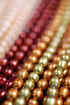 Free Colorful Pearl Strands Royalty Free Stock Photography - 3739537