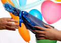Free Gift And Balloons Royalty Free Stock Photos - 3740338
