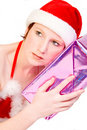 Free Christmas Faerie Guessing Her Present Stock Image - 3743081