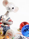 Free Toy Mouse With Ornaments Stock Images - 3748194