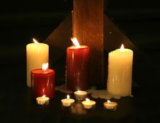 Free Candles In The Darkness Royalty Free Stock Photography - 3740347