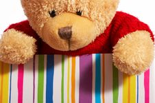 Teddy In A Box Royalty Free Stock Photography