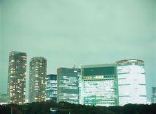 BIG CITY ON NIGHT Royalty Free Stock Photography