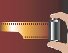 Free Pulling Out The Film From Role Royalty Free Stock Photography - 3740677