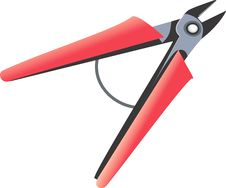 Free Wire Cutter With Red Handles Royalty Free Stock Photo - 3740695