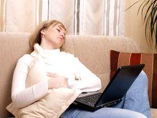 Free Young Woman Takes A Break. Stock Photo - 3740960