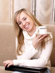 Free Smiling Woman After Work. Stock Photo - 3741020