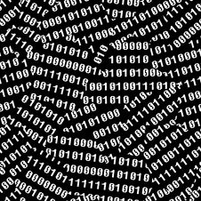 Free Binary Figures Torn, On Black Stock Photography - 3741152