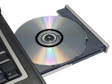 Free CDROM Tray On Laptop Stock Images - 3741714