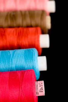 Colorful Thread Spools Royalty Free Stock Photography