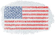 Free American Flag Fingerprint Royalty Free Stock Images - 3743629