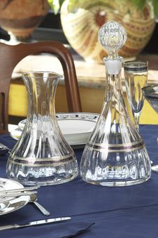 Free Crystal Bottle And Carafe Stock Image - 3744951