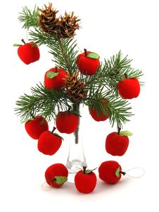 Free Apples On Christmas Tree Stock Photography - 3744952