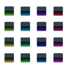 Free Colorful Glass Buttons Royalty Free Stock Photos - 3745268