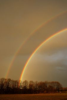 Free Double Rainbow Royalty Free Stock Photos - 3745558