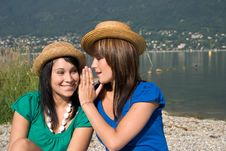 Free Two Women Discussing Royalty Free Stock Images - 3745749