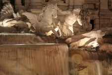 Abundance Statue Trevi Fountain (Fontana Di Trevi) Stock Photography