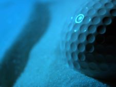 Free Golf Ball In Blue Stock Photos - 3746153