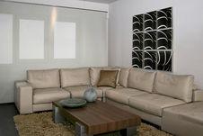 Gray Sitting Area Royalty Free Stock Image