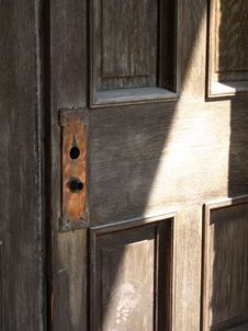 Free Wooden Door With Shadow Royalty Free Stock Images - 3747419