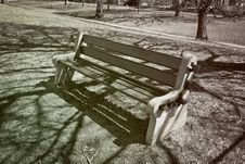 Free Park Bench Royalty Free Stock Images - 3747929