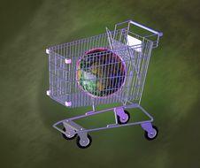Free Shopping Cart Royalty Free Stock Photography - 3748037
