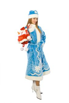 Free Christmas Girl Royalty Free Stock Images - 3748079