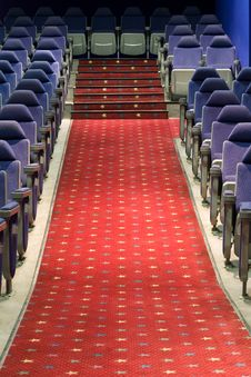 Free Empty Cinema Auditorium Royalty Free Stock Images - 3748139