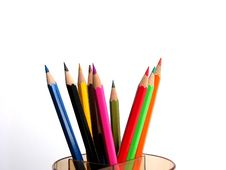 Free Colorful Pencils Royalty Free Stock Photos - 3749268