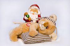 Free Rat & Father Christmas Royalty Free Stock Photo - 3749275